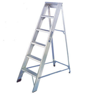 Alloy Step Ladder - 5 Tread (Extra Wide Platform)