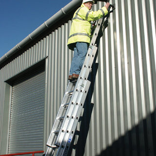 Triple Push-Up Extension Ladders - 3m