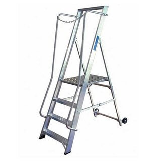 Step Ladder - Aluminium (Extra Wide Platform)