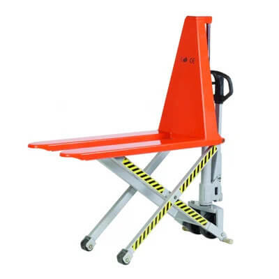high lift scissor lift pallet truck hire