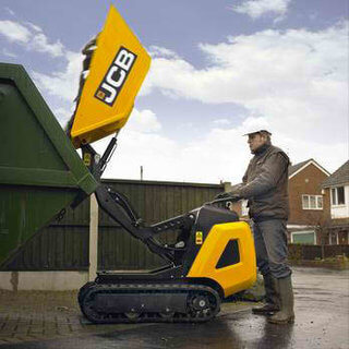 Tracked Pedestrian Mini Dumper - High Tip