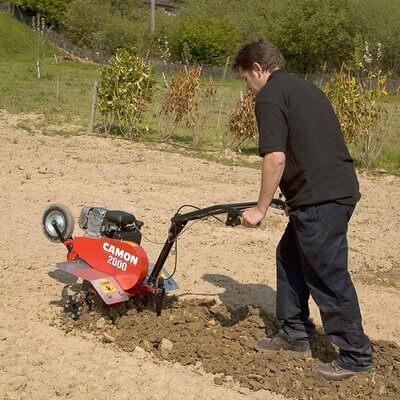 Tiller cultivator light duty petrol hire national for Gardening tools for hire
